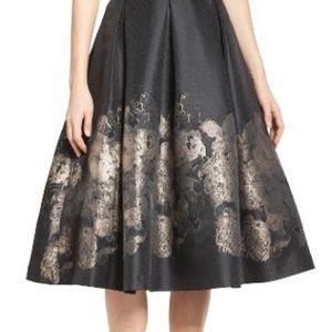 Eliza J Black and Gold Formal Skirt
